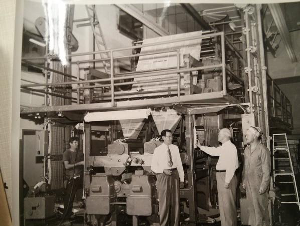 George Chambers at newspaper plant